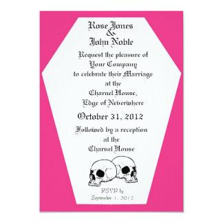 Coffin (Magenta) Wedding Invitation