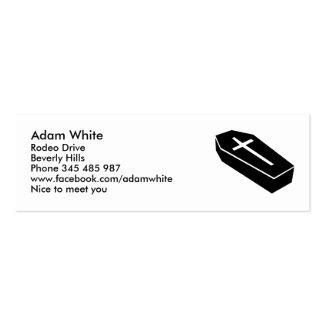 Coffin Mini Business Card
