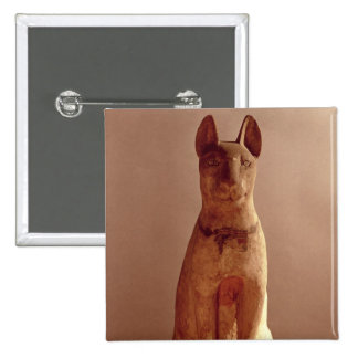 Coffin of a cat protected by the goddess Bastet (p 2 Inch Square Button