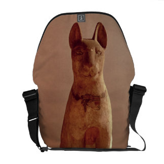 Coffin of a cat protected by the goddess Bastet (p Messenger Bags