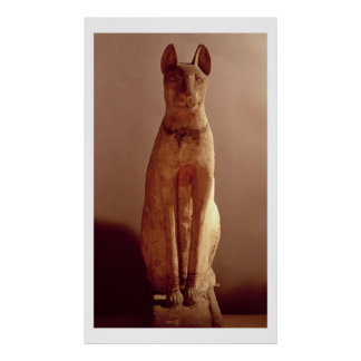 Coffin of a cat protected by the goddess Bastet (p Poster