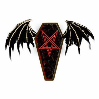 coffin pentagram cutout