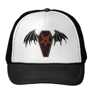 coffin pentagram trucker hat