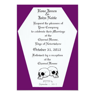 Coffin (Purple) Wedding Invitation