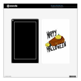 Coffin yellow pumpkin happy halloween kindle fire decal