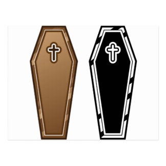 Coffins vector postcard