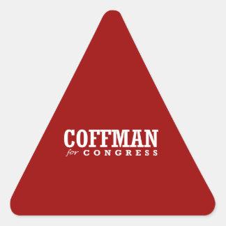 COFFMAN FOR CONGRESS 2014 TRIANGLE STICKER