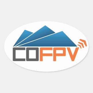 COFPV Oval Sticker with blue/gray/orange logo