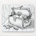 Cofre del tesoro alfombrilla de raton