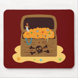 Cofre del tesoro del botín del pirata tapete de raton