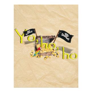 Cofre del tesoro del pirata de YO HO HO en el pape Tarjetas Publicitarias