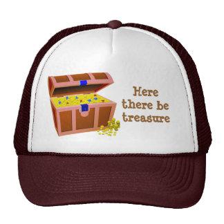 Cofre del tesoro del pirata gorra