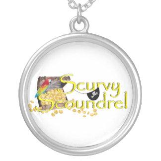 Cofre del tesoro Scurvy del texto w/Pirate del sin Pendientes Personalizados