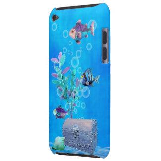 Cofre del tesoro y pescados del bonito en el funda para iPod de Case-Mate
