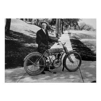 Cofundador 1908 de Harley Davidson Gualterio David Póster