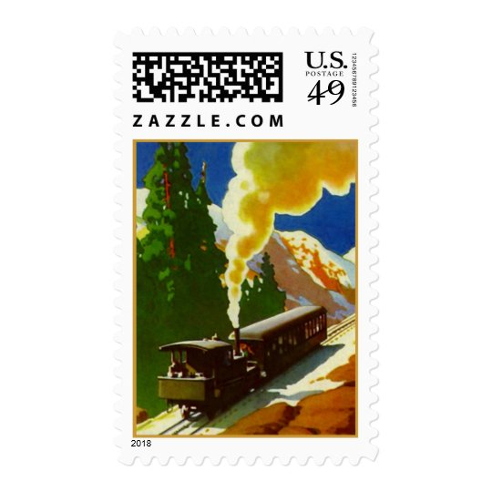 COG RAILROAD TRAIN TRAVEL HILLS MOUNTAINS STAMPS! POSTAGE