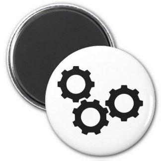 cog wheel icon 2 inch round magnet