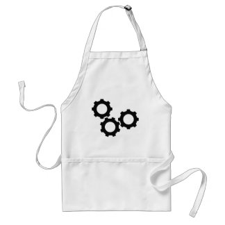 cog wheel icon adult apron