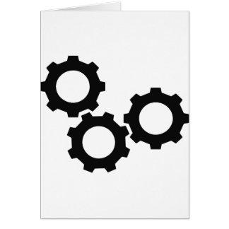 cog wheel icon card