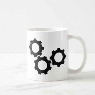 cog wheel icon coffee mug