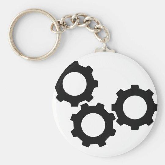 cog wheel icon keychain