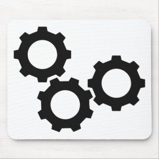 cog wheel icon mousepad