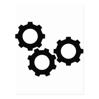 cog wheel icon postcard