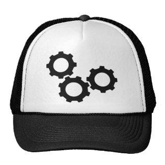 cog wheel icon trucker hat