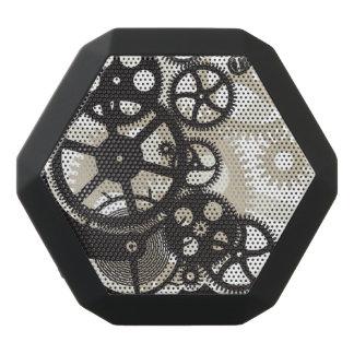Cog wheels work black bluetooth speaker