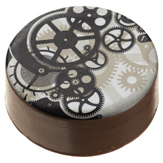 Cog wheels work chocolate covered oreo
