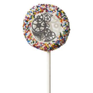 Cog wheels work chocolate covered oreo pop