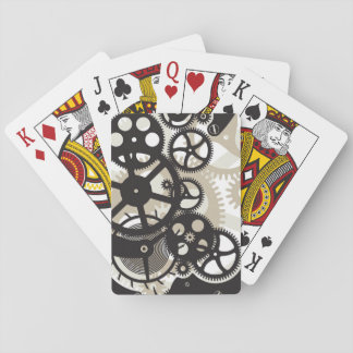Cog wheels work playing cards