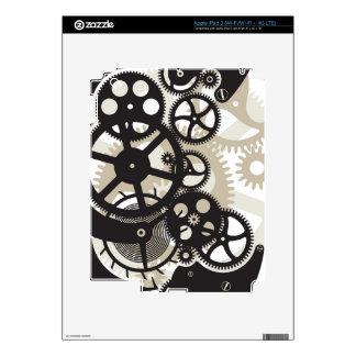 Cog wheels work decal for iPad 3