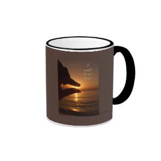 Cogí el sol para usted tazas de café