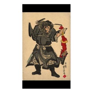 Cogida de un demonio, pintura japonesa. 1860's de tarjetas de visita