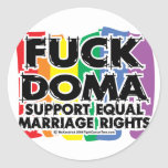 Cogida DOMA LGBTQIA Etiqueta Redonda