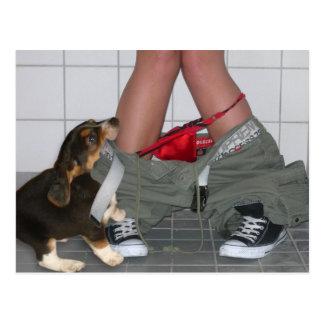 Cogido con mis pantalones abajo una vez más perro  tarjeta postal