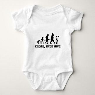 Cogito, ergo sum. baby bodysuit