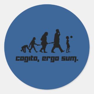 Cogito, ergo sum. classic round sticker