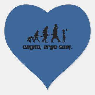 Cogito, ergo sum. heart sticker