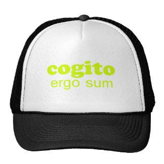 Cogito ergo sum Penso logo existo I think theref Trucker Hats