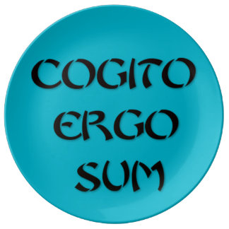 Cogito Ergo Sum Porcelain Plate