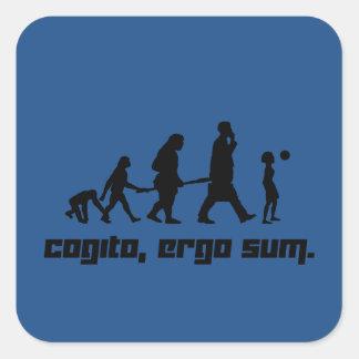 Cogito, ergo sum. square sticker