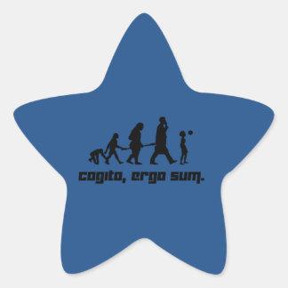 Cogito, ergo sum. star sticker