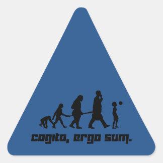 Cogito, ergo sum. triangle sticker