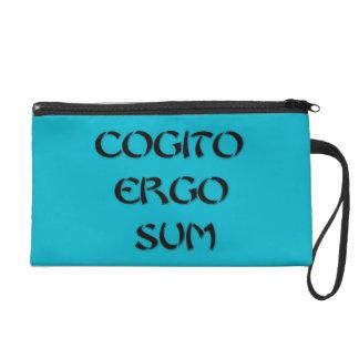 Cogito Ergo Sum Wristlet Purse