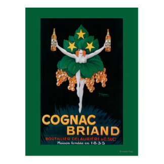 Cognac Briand Promotional Poster Postcard