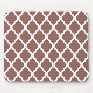 Cognac Brown Moroccan Tile Trellis Mouse Pad