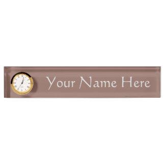 Cognac Desk Name Plate