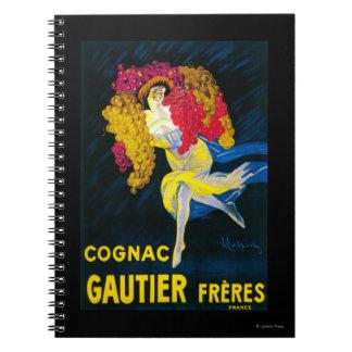 Cognac Gautier Promotional PosterFrance Notebook